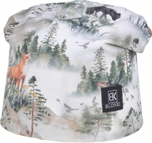 Detská jarná čiapka Blonki les