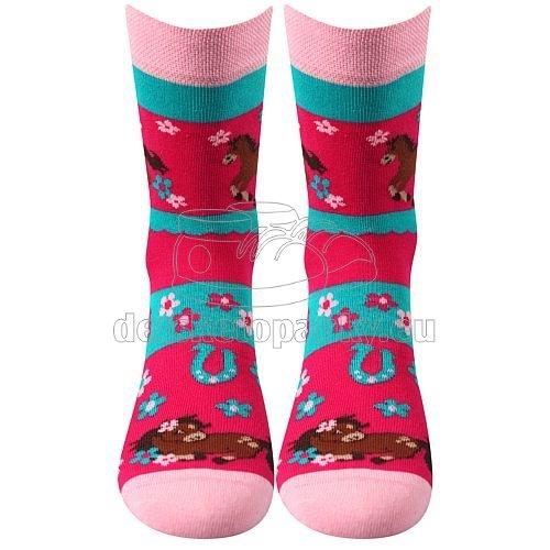 Detské ponožky VoXX Horsik magenta