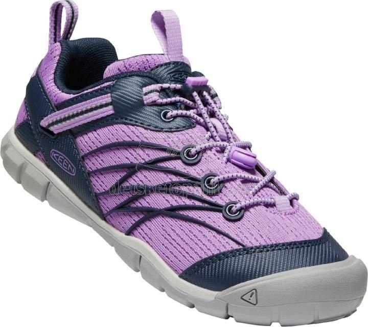 Detské celoročné topánky Keen Chandler CNX Youth african violet/navy