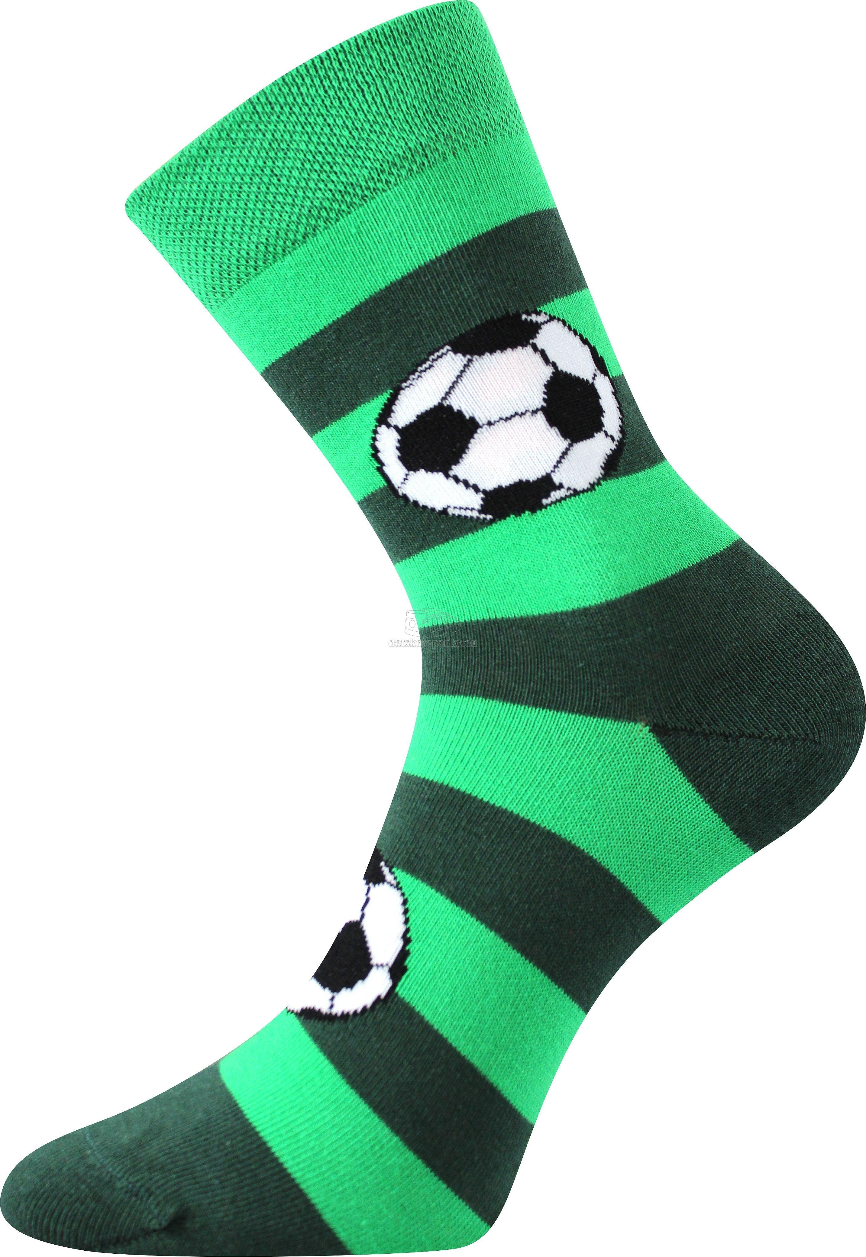 Boma Arnold Futbalové lopty - zelená s pruhmi