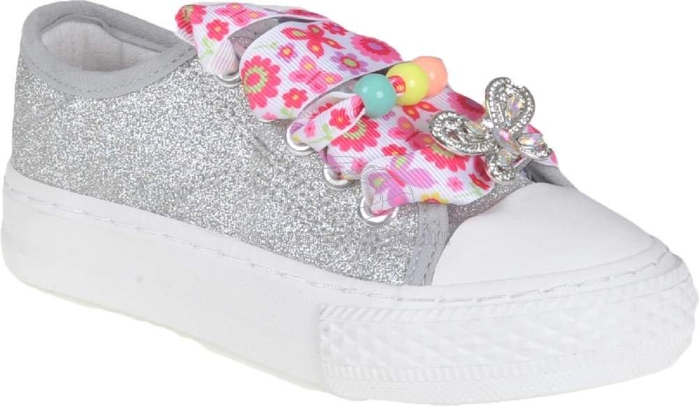 Egész évben hordható gyerekcipő Lelli Kelly LK1328 LH01 silvilla silver glitter