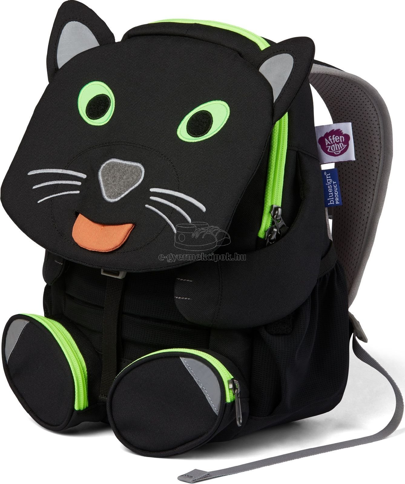 Gyerek hátizsák óvodába Affenzahn Panther large - black