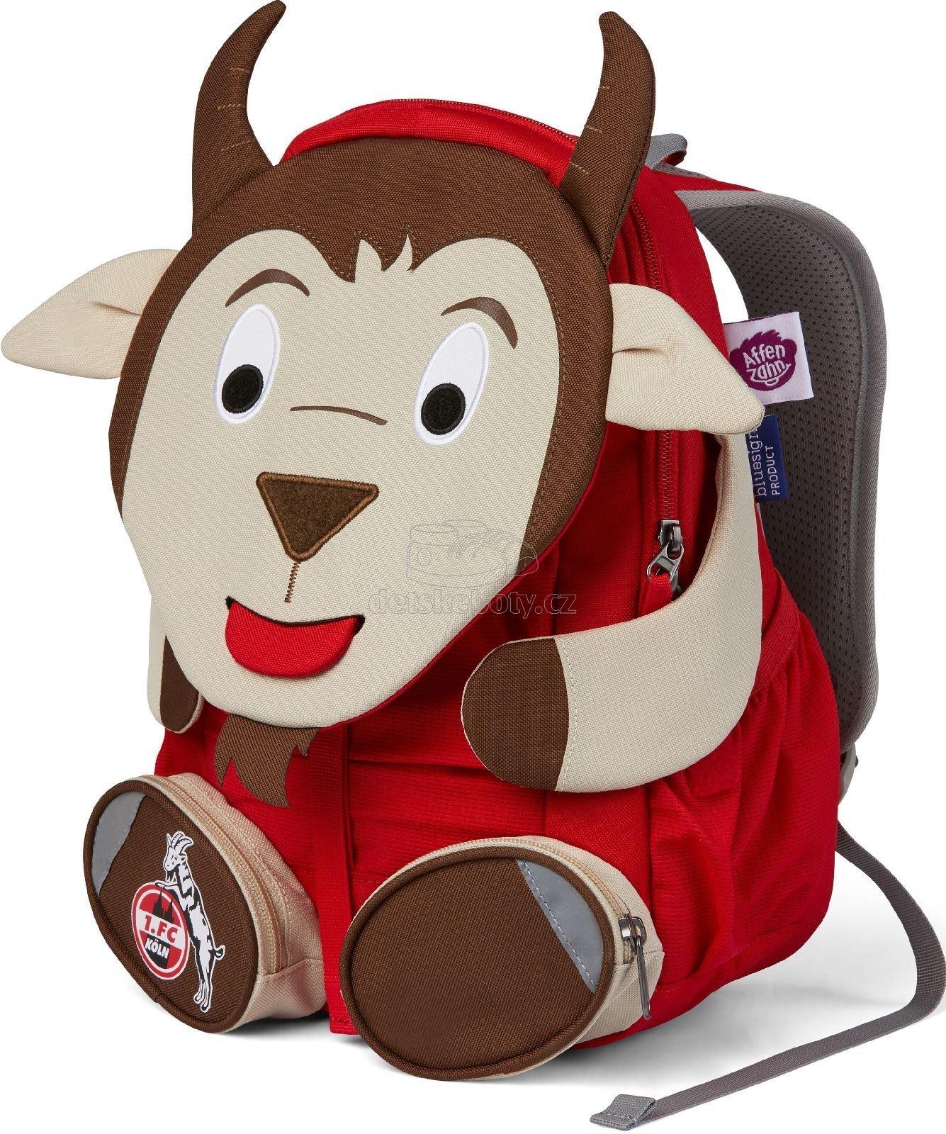 Dětský batoh do školky Affenzahn Hennes Goat large - red
