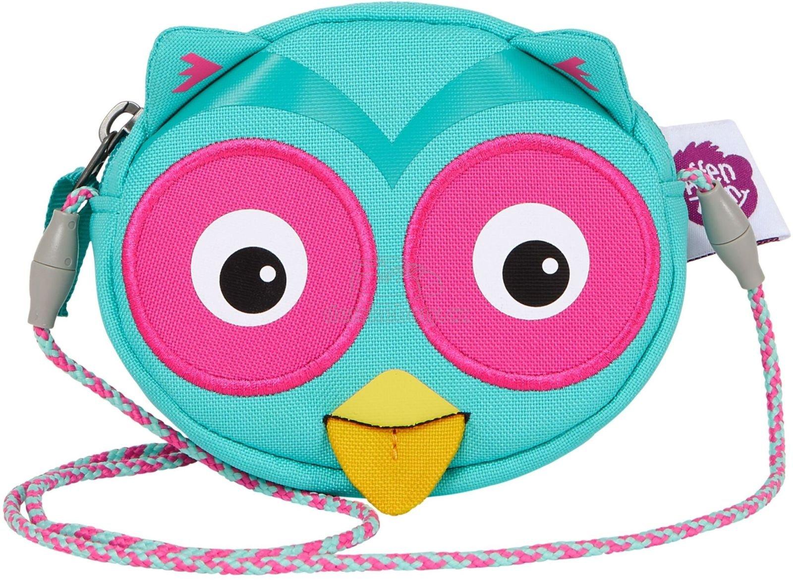 Gyerek kézitáska Affenzahn Wallet - Olivia Owl - turquoise
