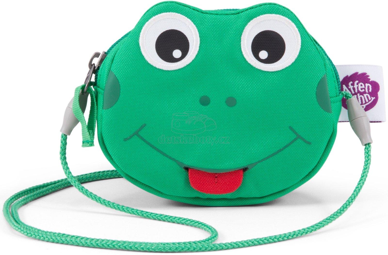 Gyerek kézitáska Affenzahn Purse Finn Frog - green