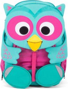 Gyerek hátizsák iskolába Affenzahn Olina Owl large - turquoise