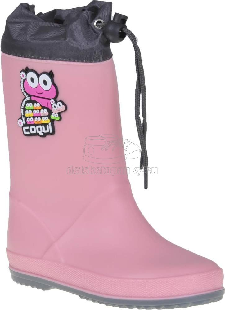 Detské gumáky Coqui 8508 pink/grey