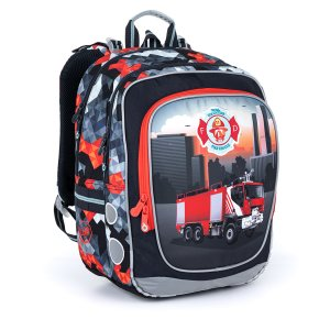 Ultraľahký školský batoh s hasičským autom Topgal ENDY 21013 B