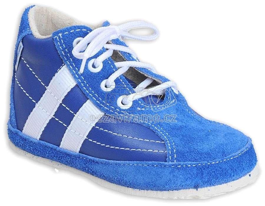 Babacipők Pegres 1090 kék velur