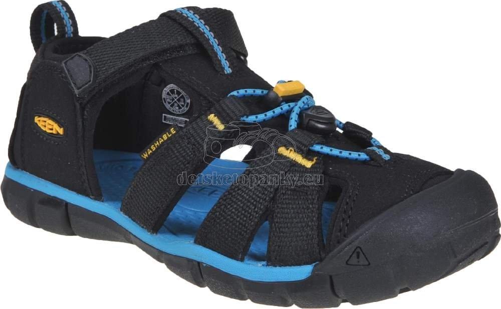 Detské sandále Keen Seacamp II CNX Youth black/keen yellow