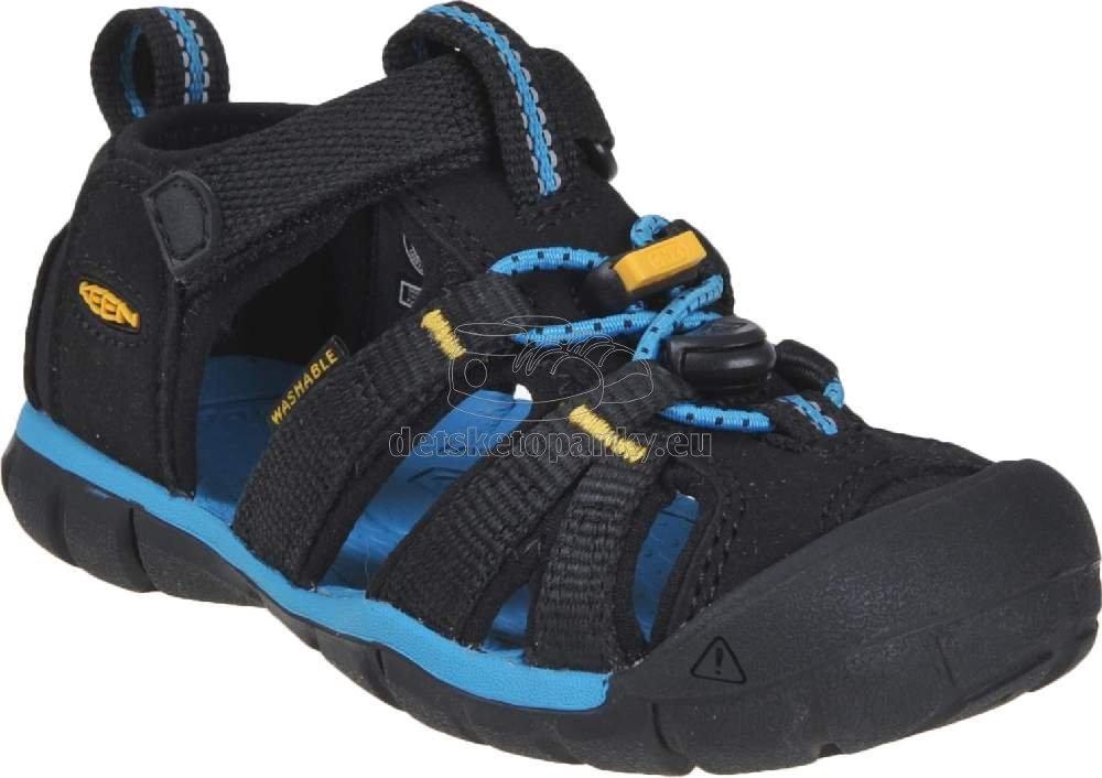 Detské sandále Keen Seacamp II CNX Children black/keen yellow