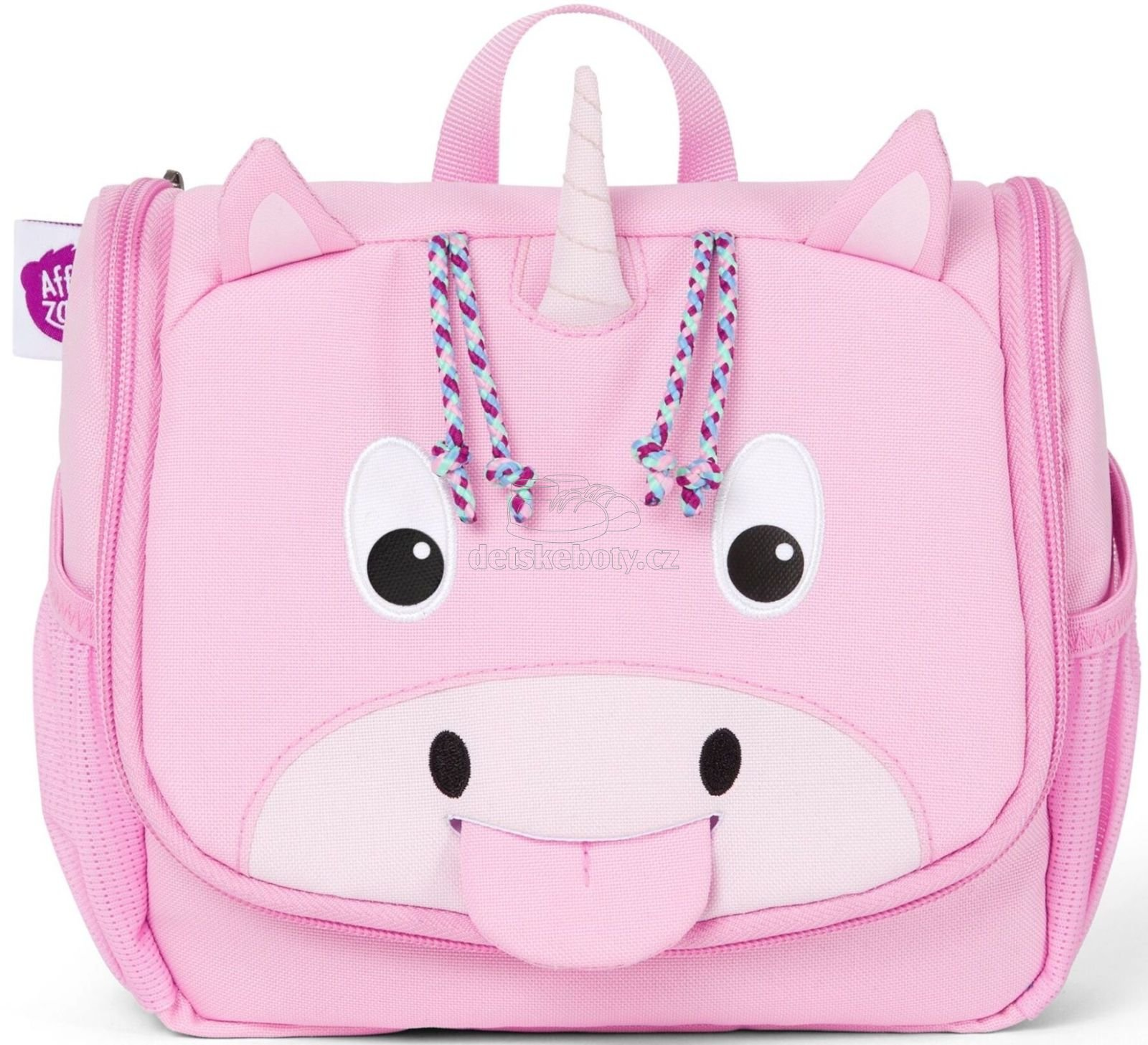 Detská kozmetická taštička Affenzahn Washbag - Ulrike Unicorn - pink