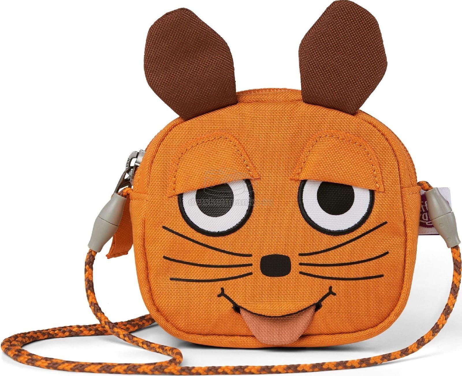 Detská kabelka Affenzahn Kids Wallet Mouse - orange