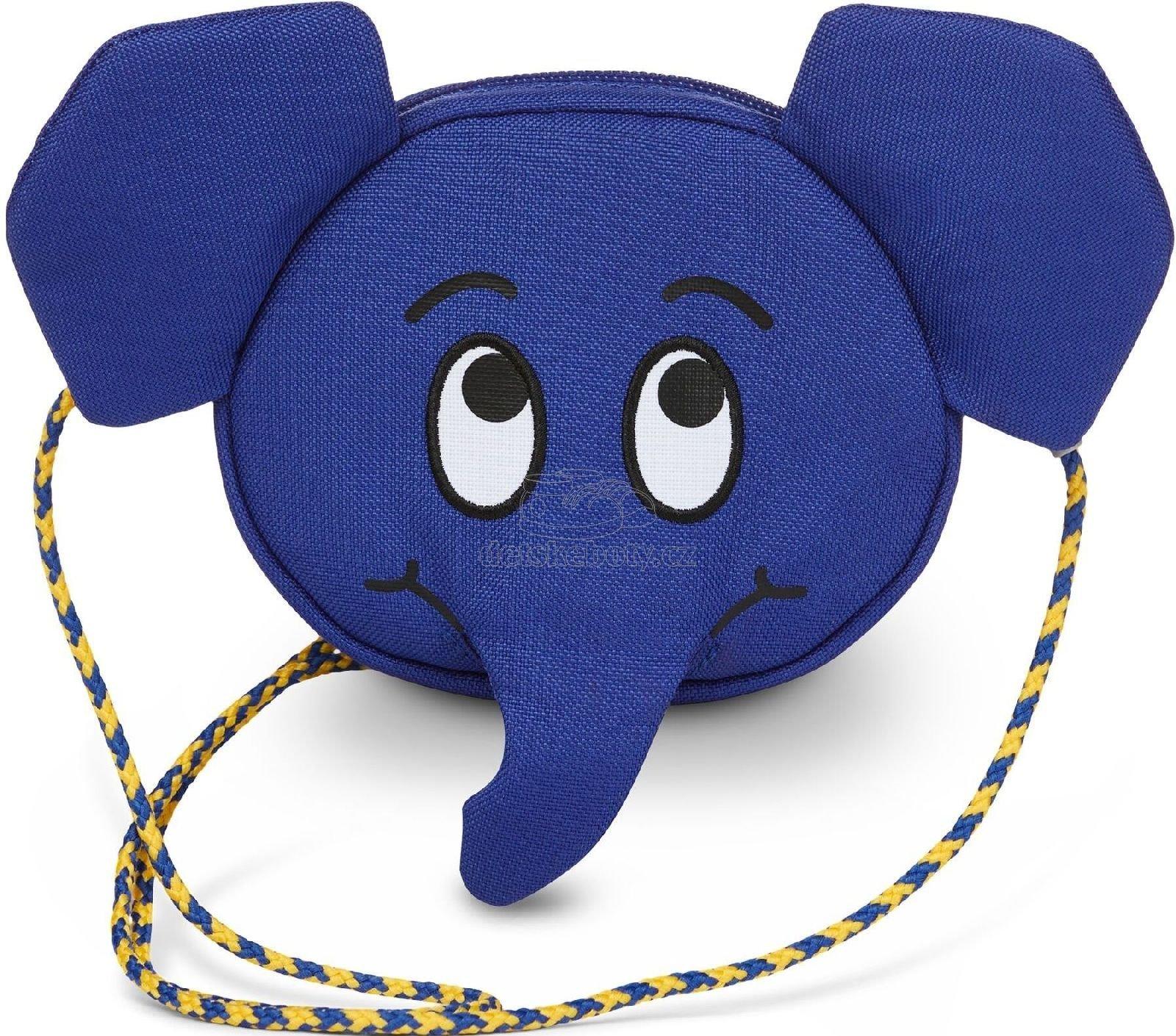 Dětská kabelka Affenzahn Kids Wallet Emil Elephant - blue