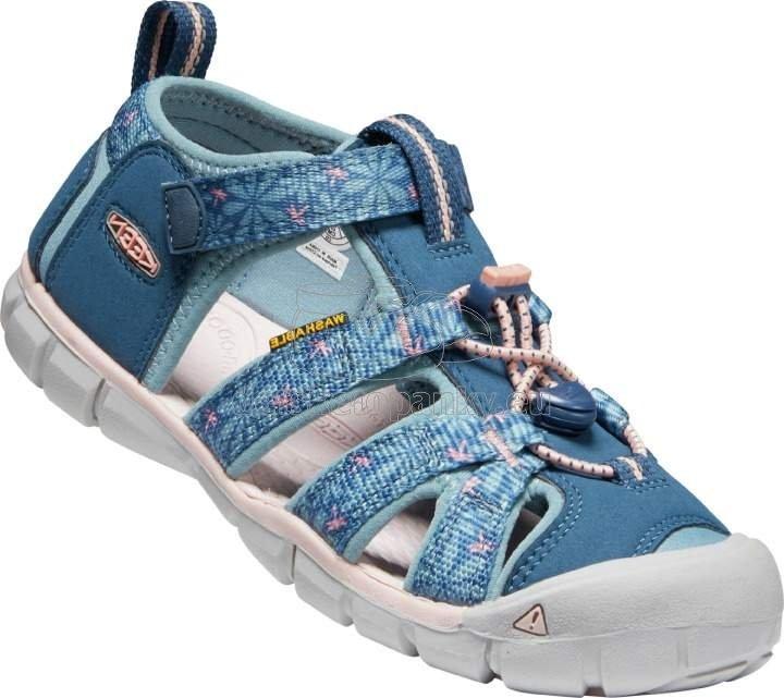Detské sandále Keen Seacamp II CNX Children real teal/stone blue