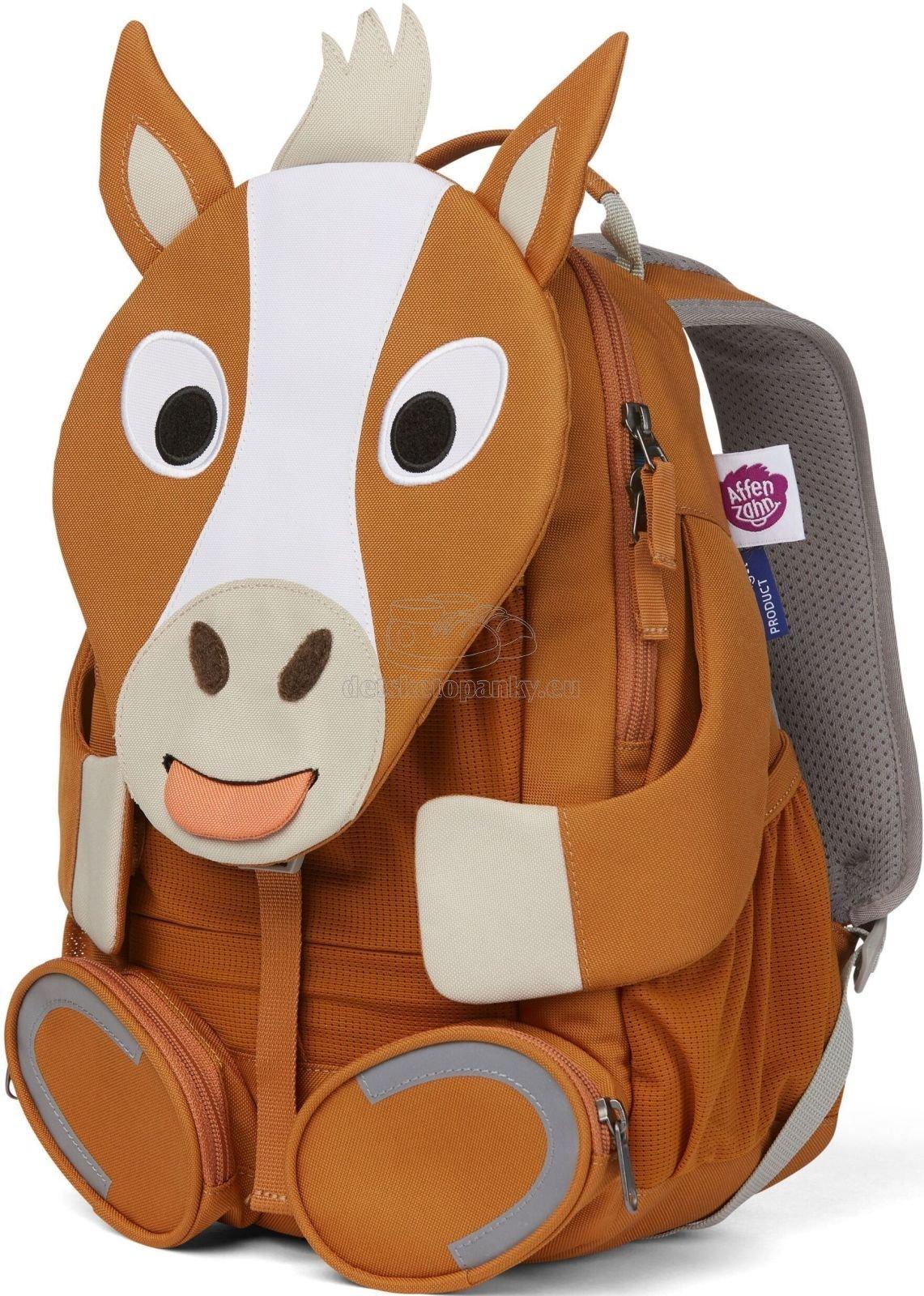 Detský batoh do škôlky Affenzahn Large Friend Horse - brown