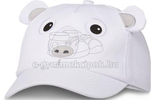 Gyerek siltes sapka Affenzahn Polar Bear - white  méret 52-54