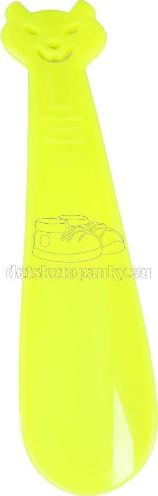 VTR obuvák 18 cm mačka žltá