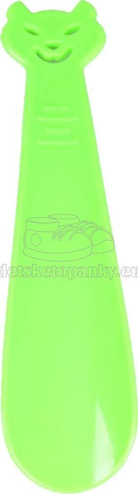 VTR obuvák 18 cm mačka zelená