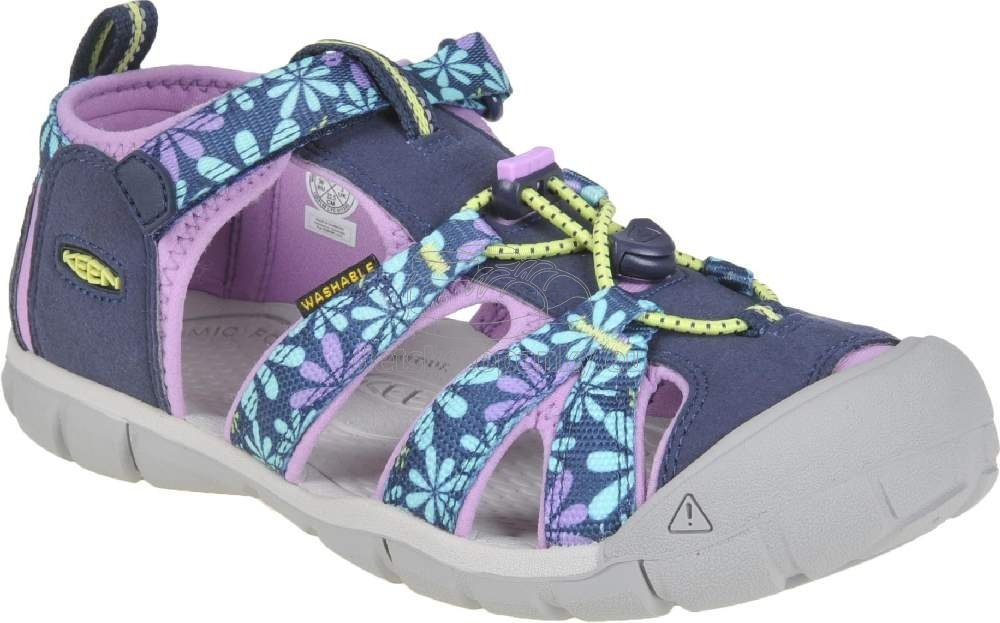 Detské sandále Keen Seacamp II CNX Youth black iris/african violet