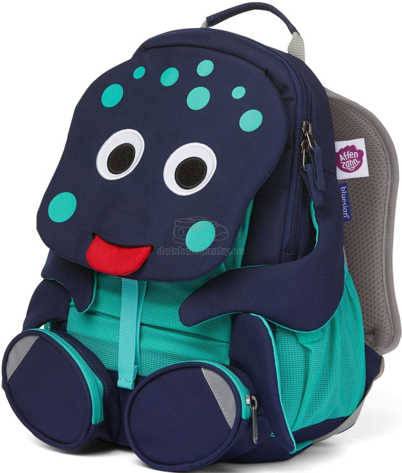 Detský batoh do škôlky Affenzahn Large Friend Octopus - blue