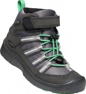 Egész évben hordható gyerekcipők  Keen HIKEPORT 2 SPORT MID WP YOUTH black/irish green