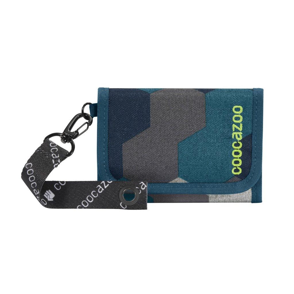 Peňaženka coocazoo AnyPenny, Blue Geometric Melange