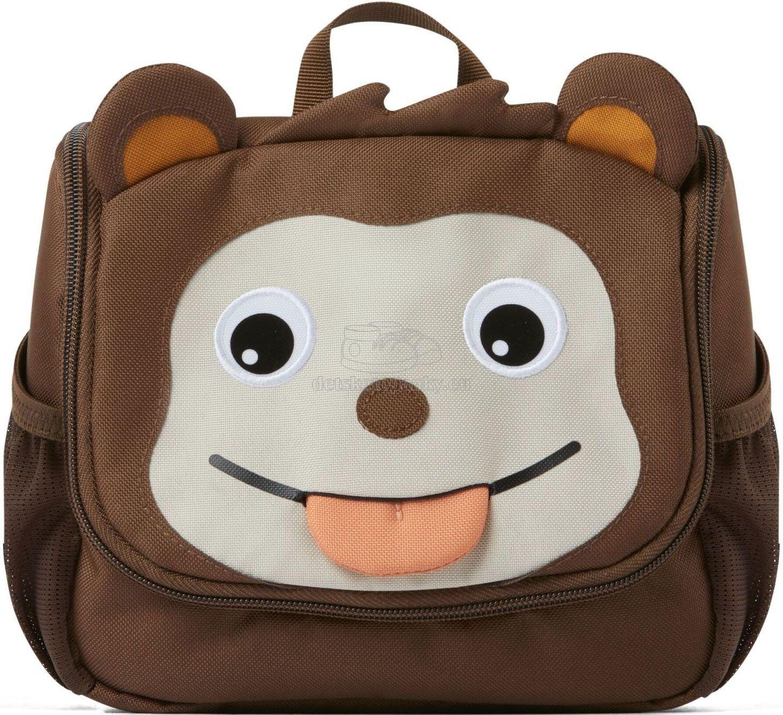 Detská kozmetická taštička Affenzahn Kids Toiletry Bag Monkey - brown