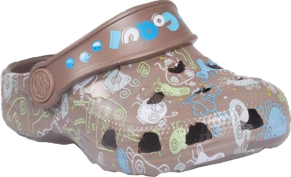 Detské plážovky Coqui 8715 chocolate monster