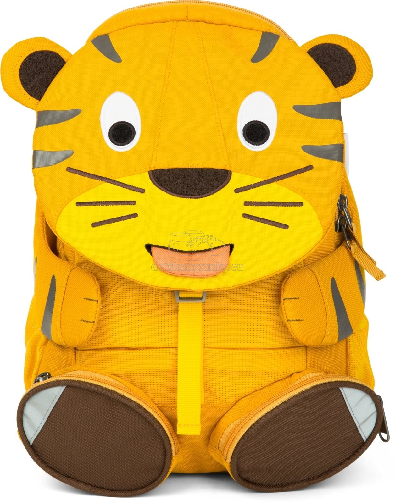 Detský batoh do  škôlky Affenzahn Theo Tiger large - Yellow