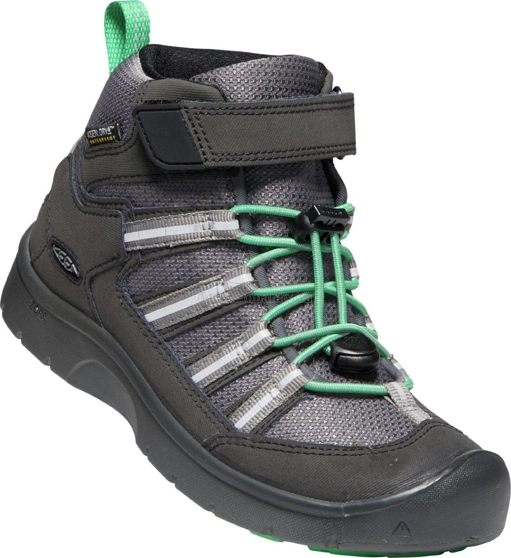 Detské celoročné topánky Keen HIKEPORT 2 SPORT MID WP CHILDREN black/irish green