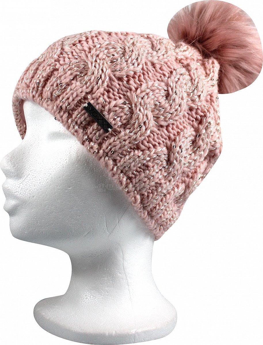Téli gyerek sapka  VOXX Astra uni rózsaszín