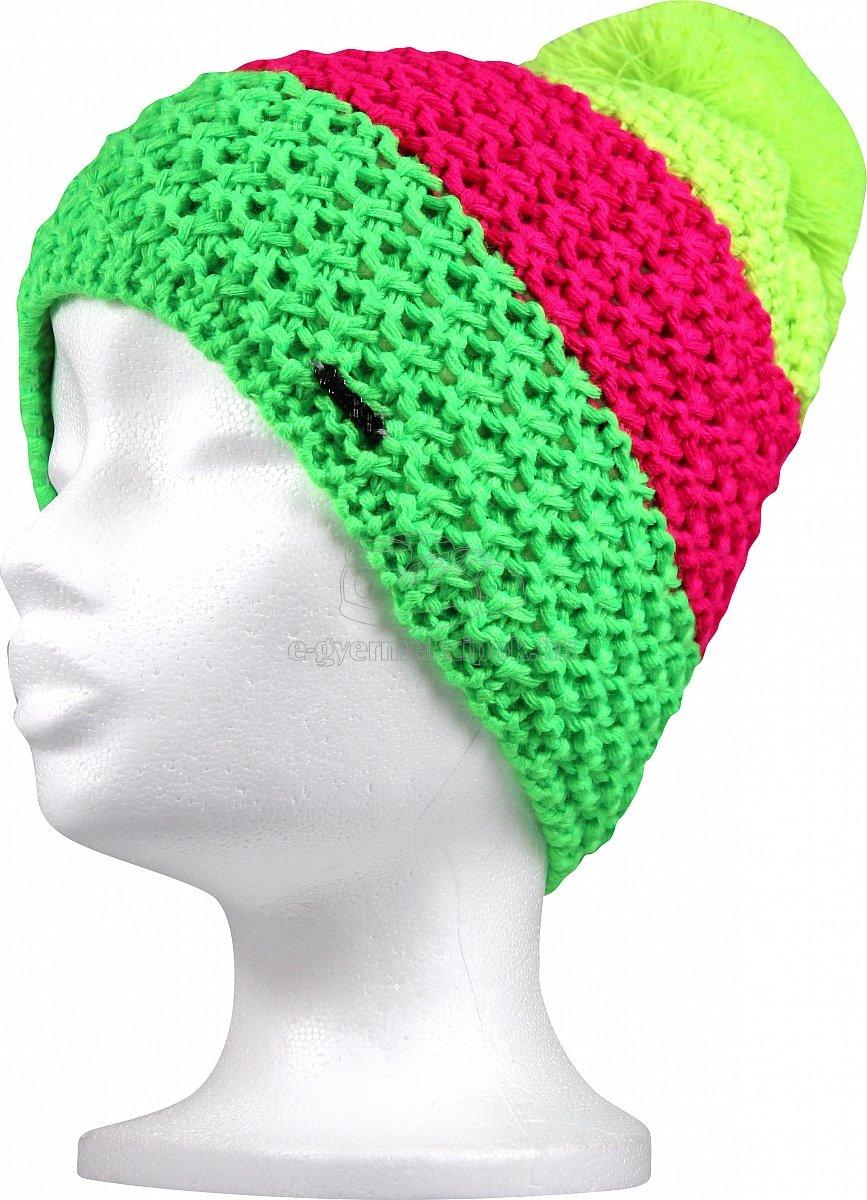 Téli gyerek sapka  VoXX Avalanche uni neon zöld
