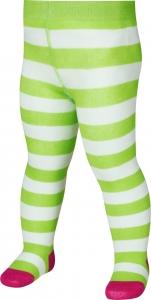 Detské pančuchy Playshoes Pruhované 499025 zelené