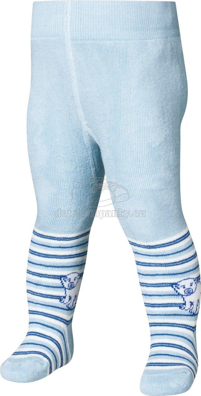 Detské pančuchy Playshoes Termo Ľadový medveď 499051 svetlo modré