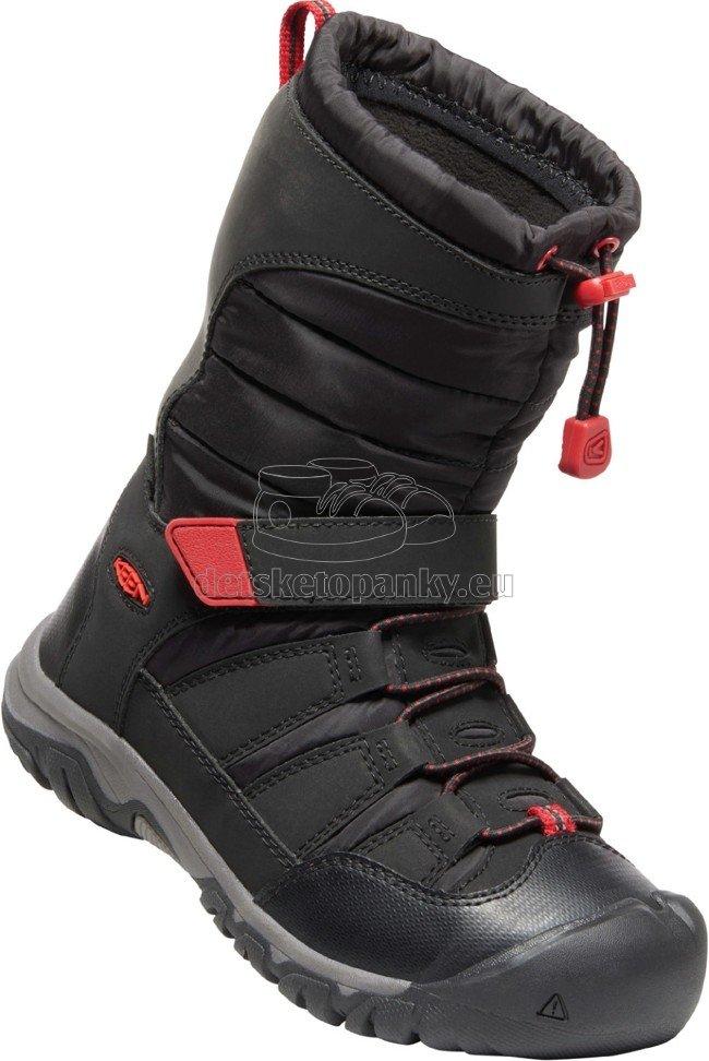 Detské zimné topánky Keen WINTERPORT NEO DT WP YOUTH black/red carpet