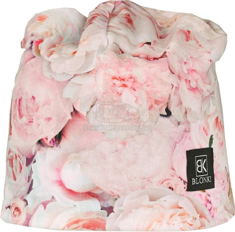 Detská jarní čepice Blonki růže