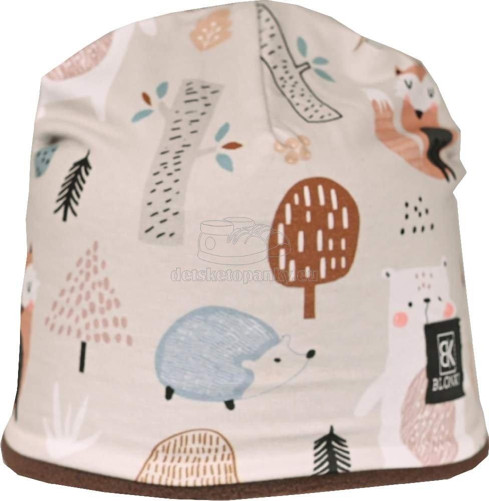 Detská zimná čiapka Blonki líška / béžová