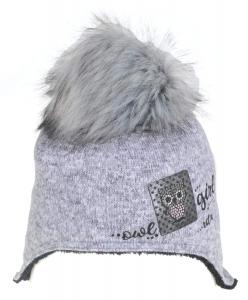 Dětská čepice Radetex 3755 šedá