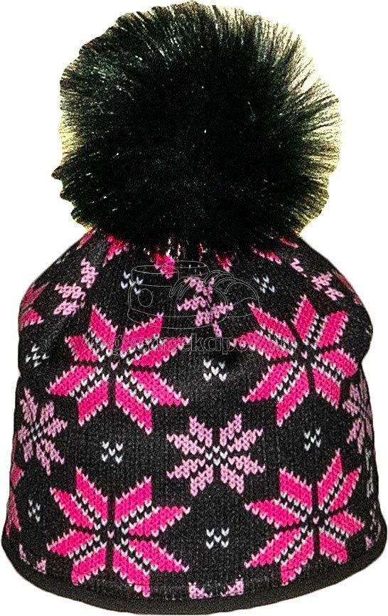 Téli gyerek sapka Radetex 3873 fekete