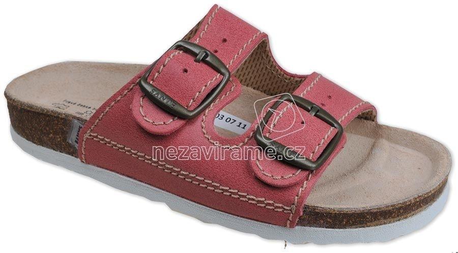 Domáca obuv Sante D/202/C30/BP cerveny
