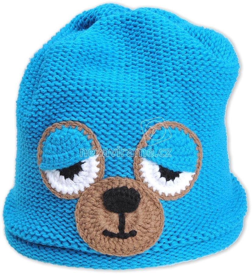 Detská zimná čapica Pletex P223 modrá