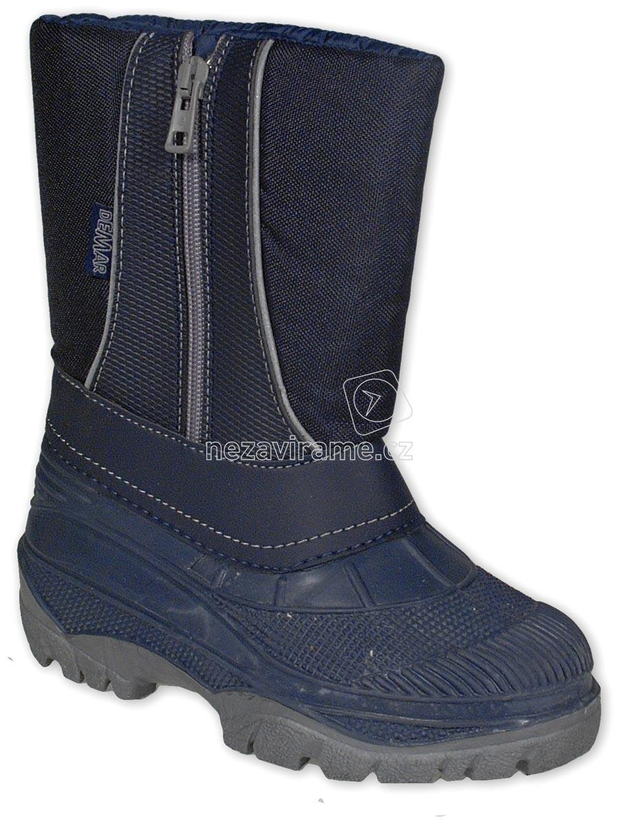 0110bd3e595 Dětské zimní boty Demar Cristal modré