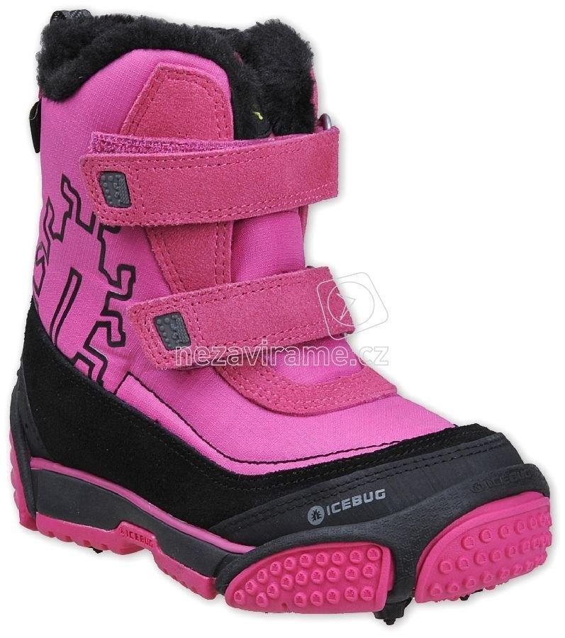 Egész évben hordható gyerekcipő Icebug Myoko rózsaszín