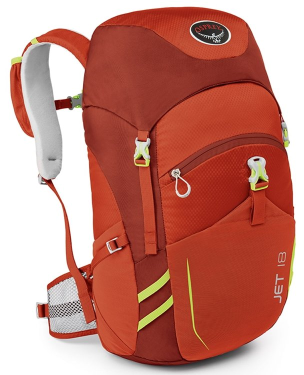 Hátizsák Osprey Jet 18 (Strawberry Red)