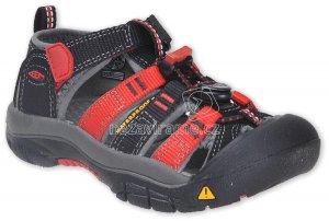 9c7be9d77426 Dětské letní boty Keen Newport black racing red multi
