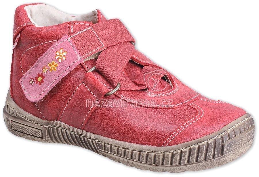 Detské celoročné topánky Pegres 1403 červená A
