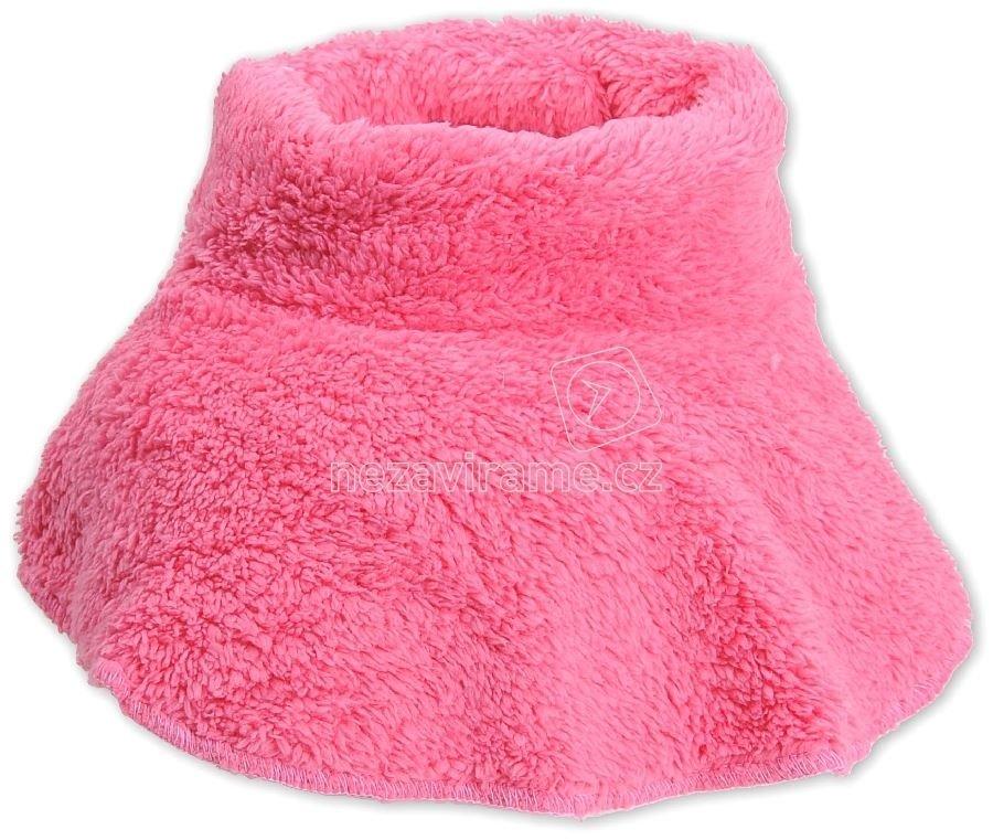 Detský zimný nákrčník Rockino 1608 tm.ružová