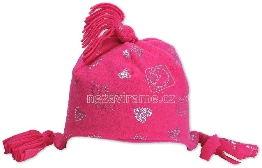 Téli gyerek sapka Pletex Rockino 1562 rózsaszín